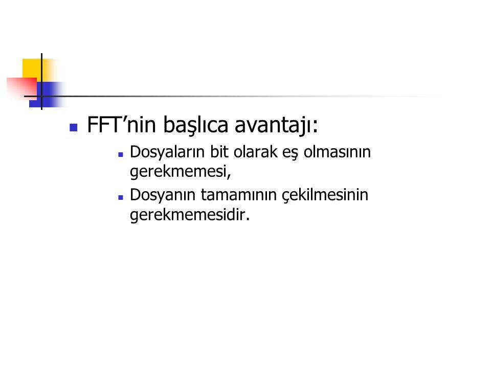 FFT'nin başlıca avantajı: