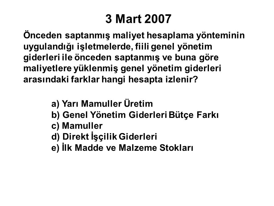 3 Mart 2007