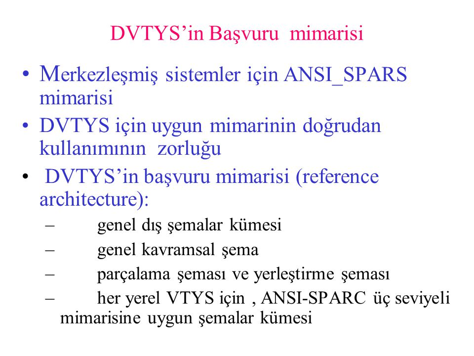 DVTYS'in Başvuru mimarisi