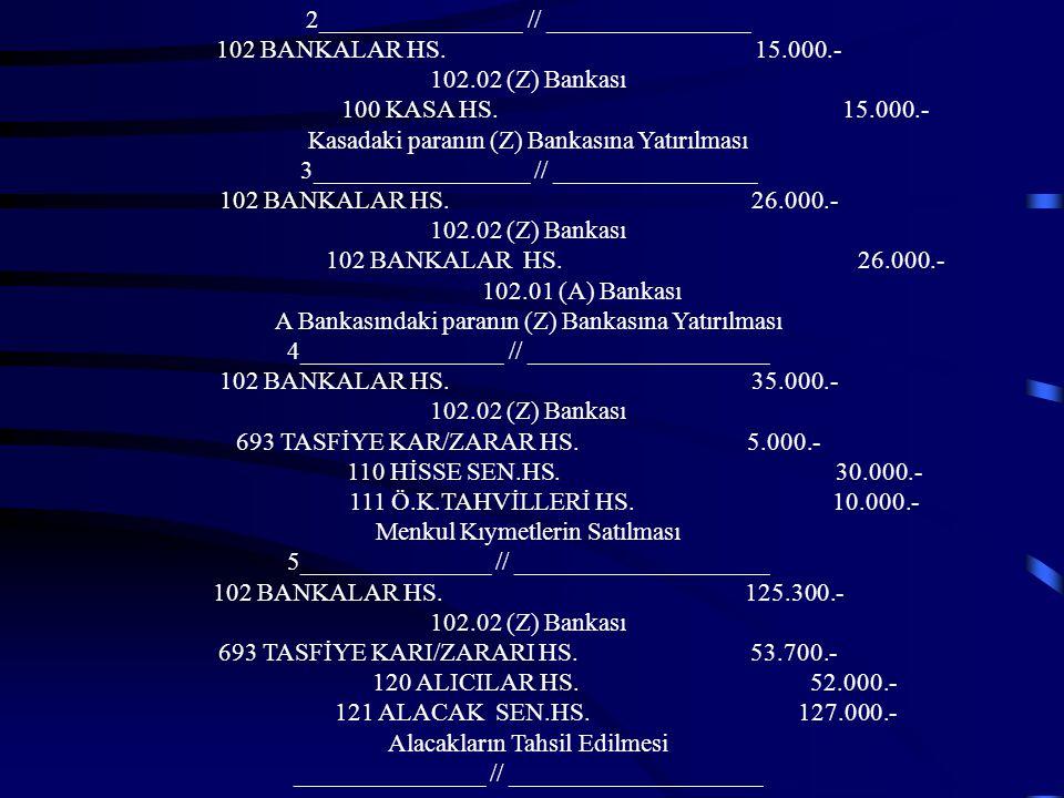 2________________ // ________________ 102 BANKALAR HS. 15.000.-