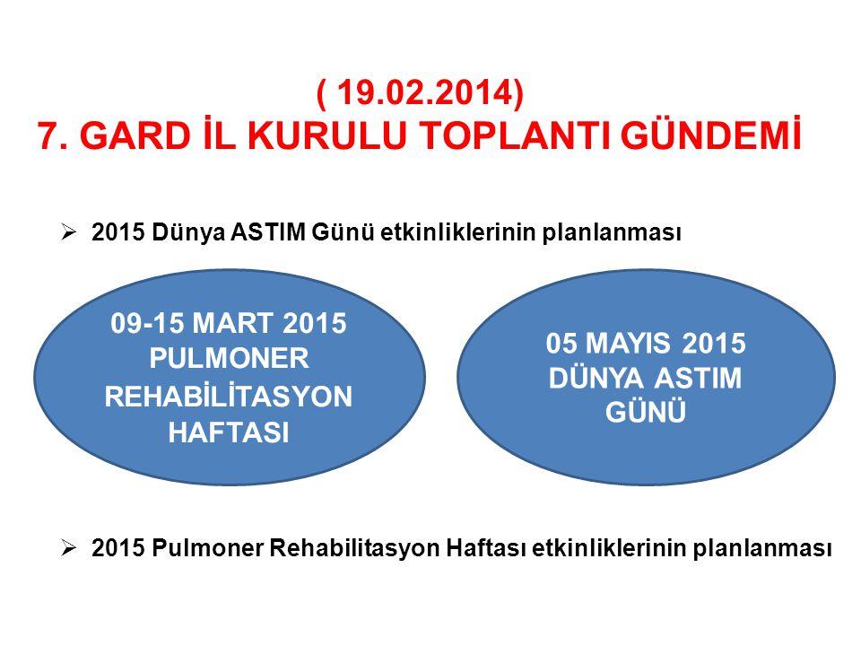( 19.02.2014) 7. GARD İL KURULU TOPLANTI GÜNDEMİ