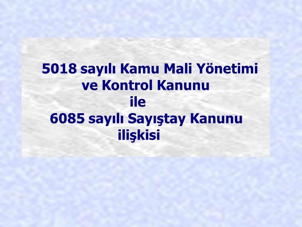 5018 sayılı Kamu Mali Yönetimi