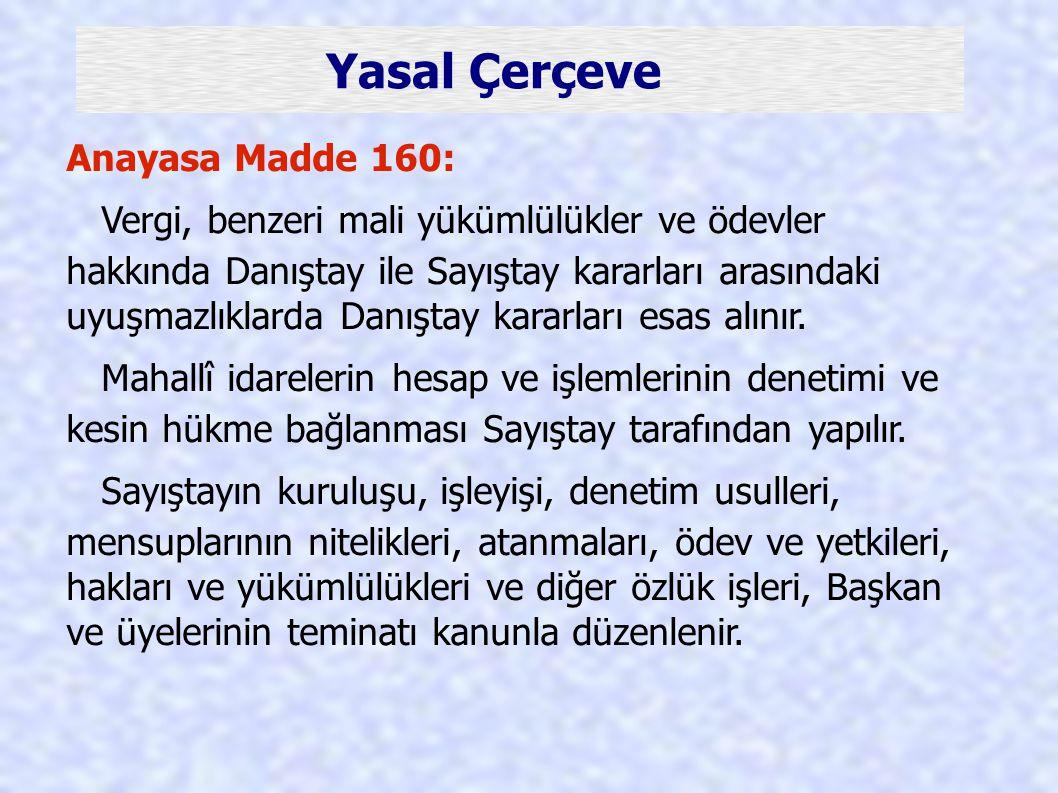 Yasal Çerçeve Anayasa Madde 160: