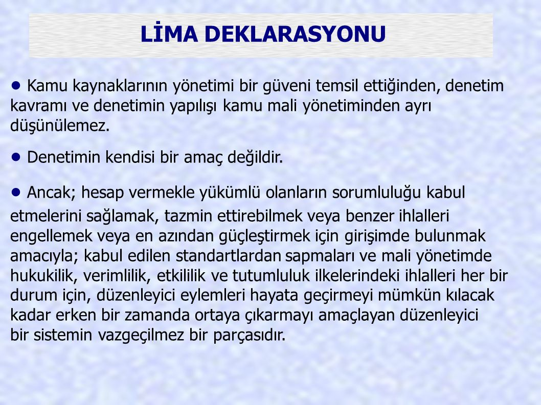 LİMA DEKLARASYONU