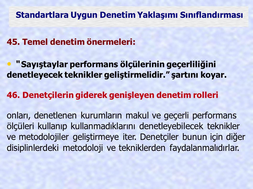 • Sayıştaylar performans ölçülerinin geçerliliğini