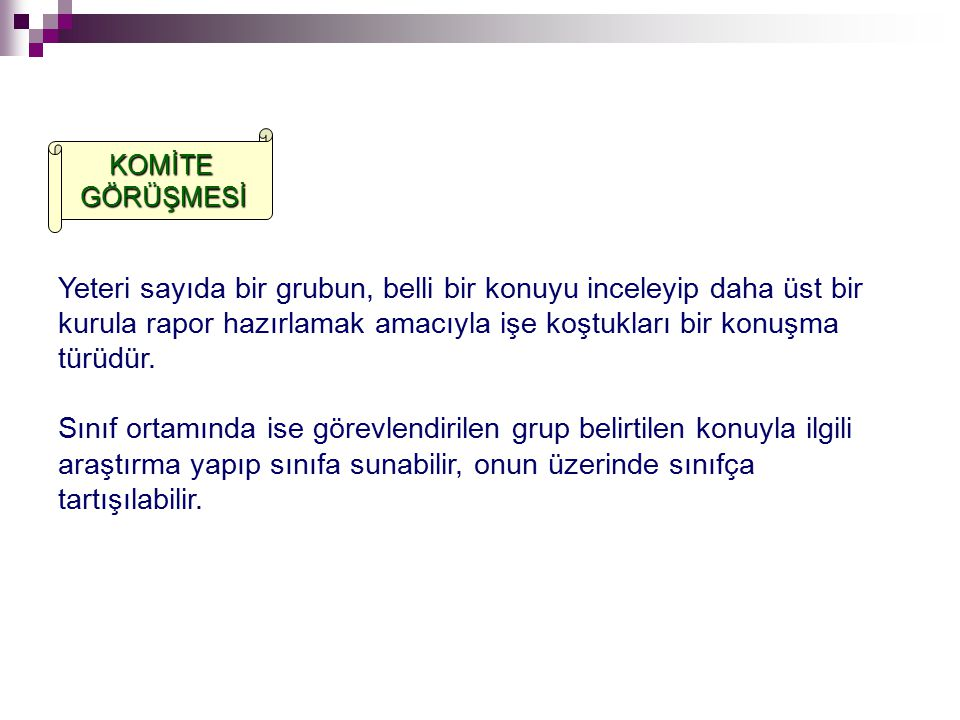 KOMİTE GÖRÜŞMESİ.