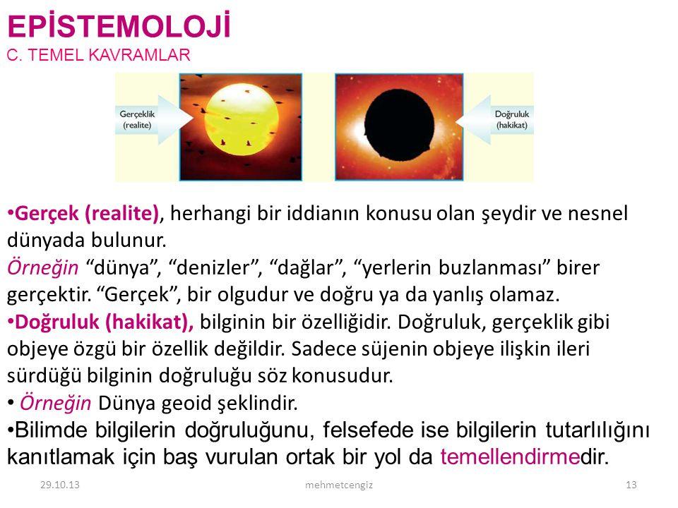 EPİSTEMOLOJİ <header> <date/time>