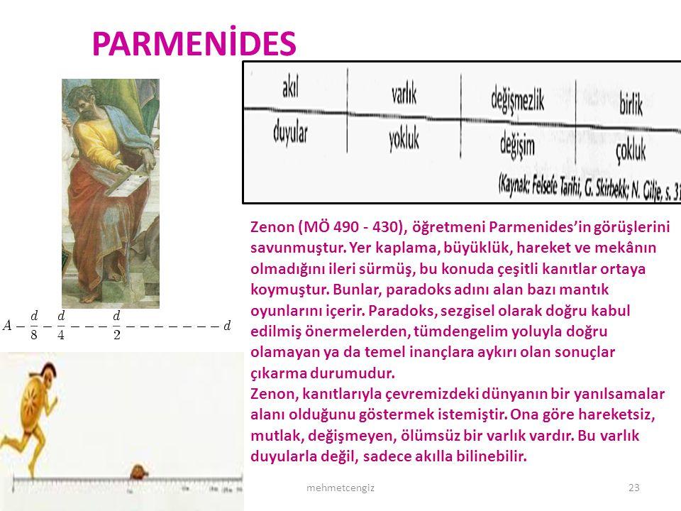 PARMENİDES <header> <date/time> <footer>