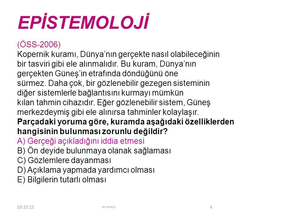EPİSTEMOLOJİ <header> <date/time> <footer>