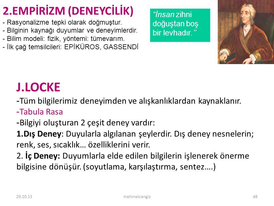 J.LOCKE 2.EMPİRİZM (DENEYCİLİK) <header> <date/time>