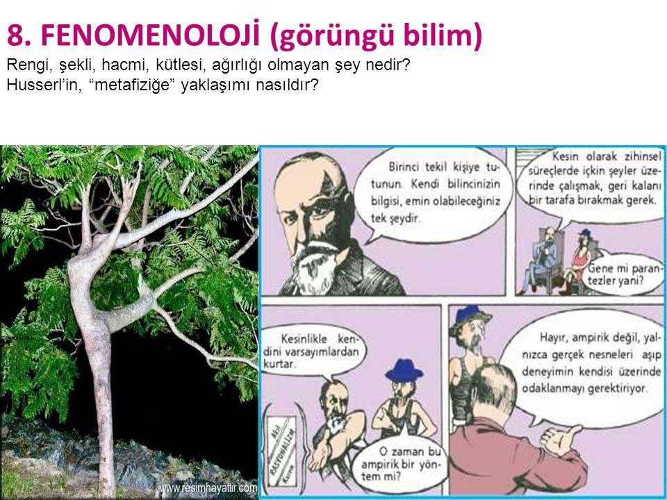 8. FENOMENOLOJİ (görüngü bilim)