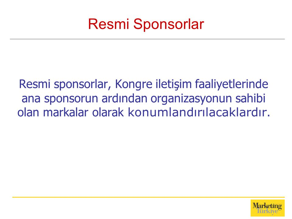 Resmi Sponsorlar