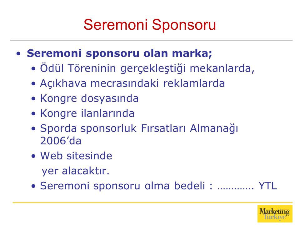 Seremoni Sponsoru Seremoni sponsoru olan marka;