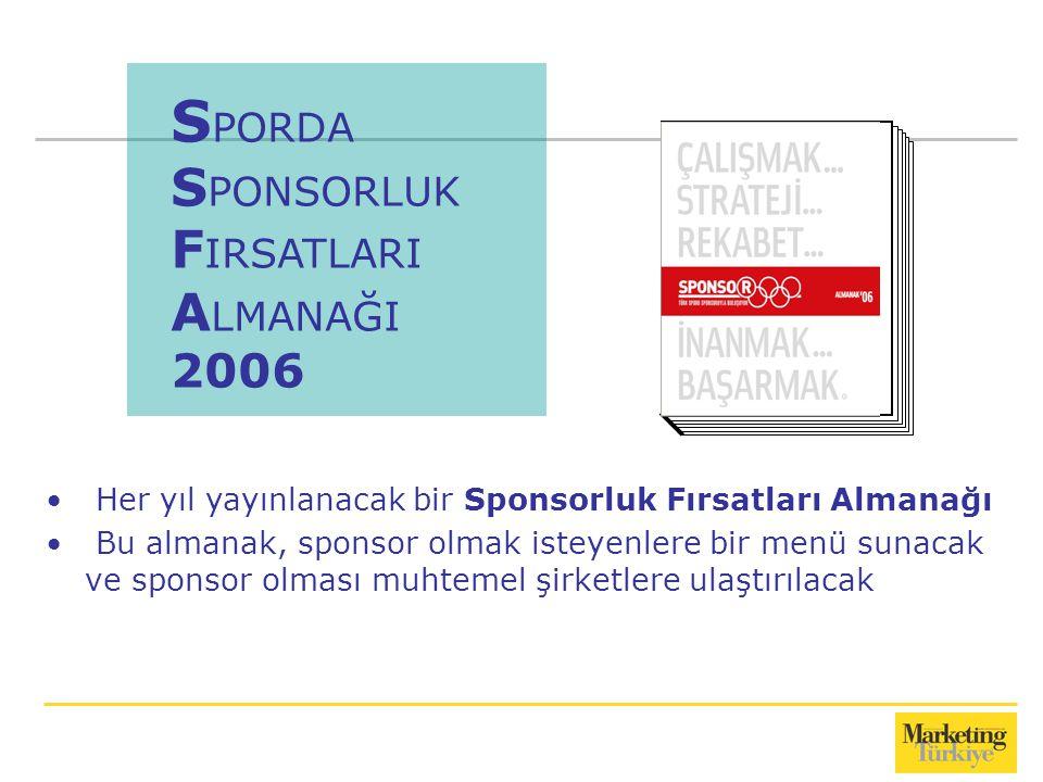 SPORDA SPONSORLUK FIRSATLARI ALMANAĞI 2006