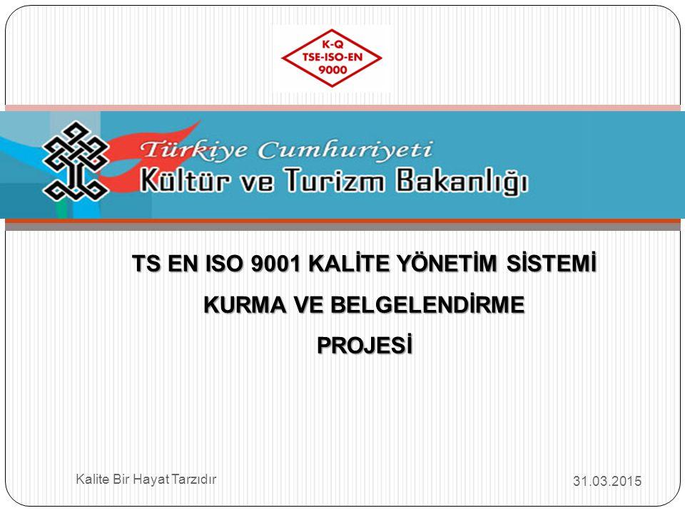 TS EN ISO 9001 KALİTE YÖNETİM SİSTEMİ KURMA VE BELGELENDİRME