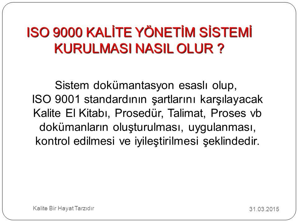 ISO 9000 KALİTE YÖNETİM SİSTEMİ KURULMASI NASIL OLUR