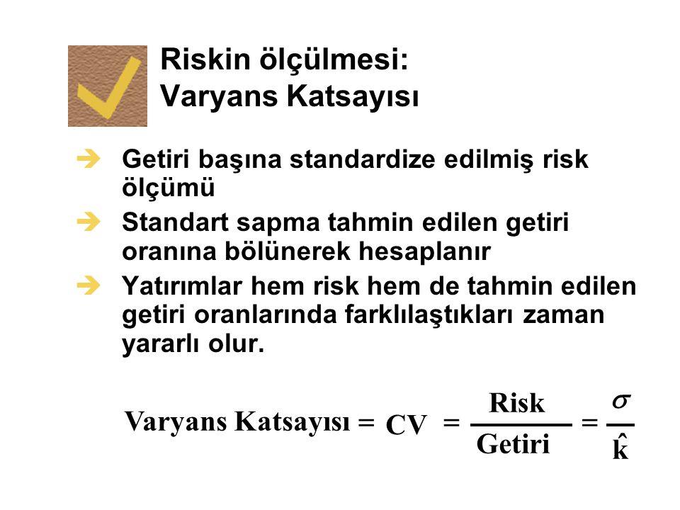 Riskin ölçülmesi: Varyans Katsayısı