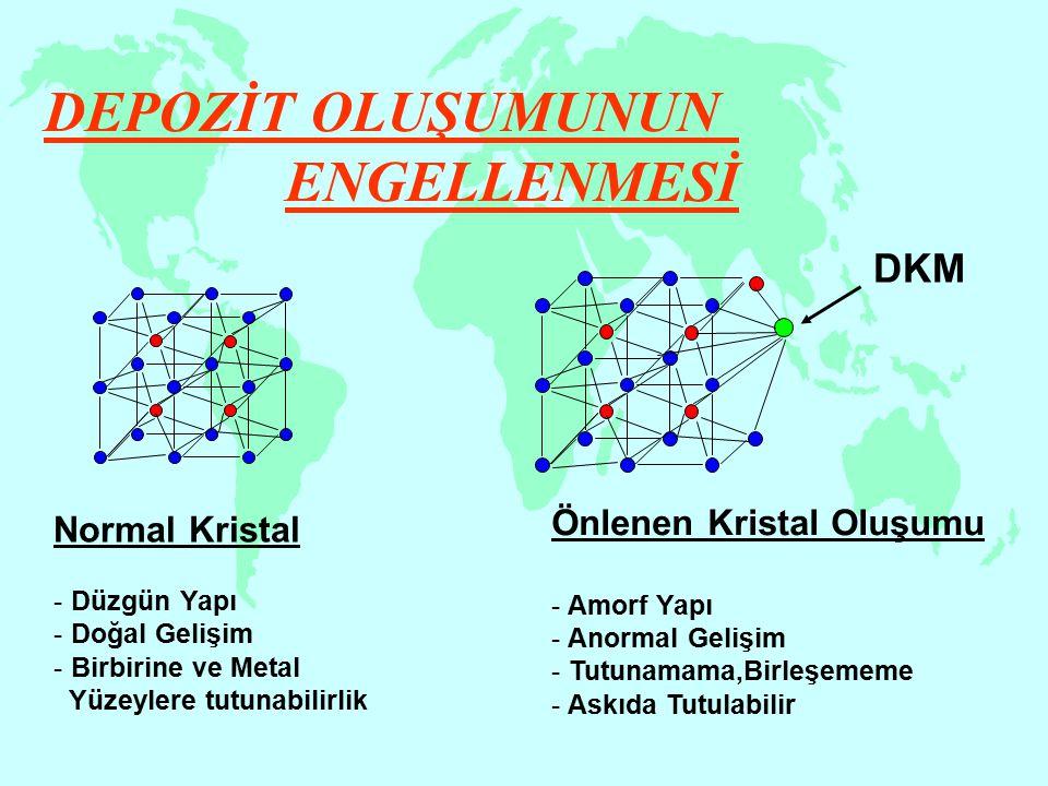 DEPOZİT OLUŞUMUNUN ENGELLENMESİ DKM Önlenen Kristal Oluşumu