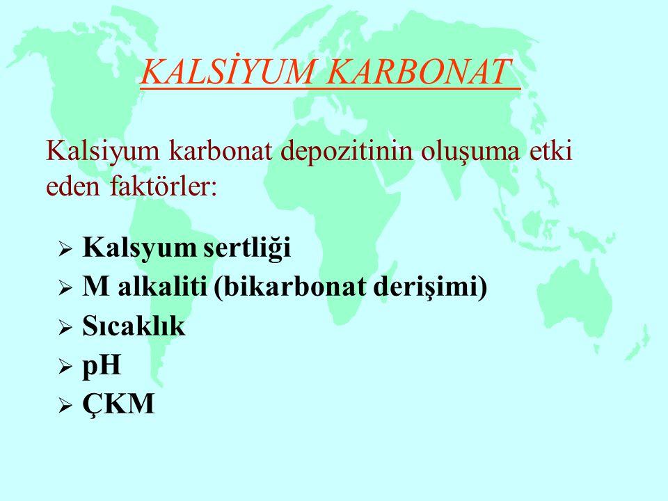 Kalsiyum karbonat depozitinin oluşuma etki eden faktörler:
