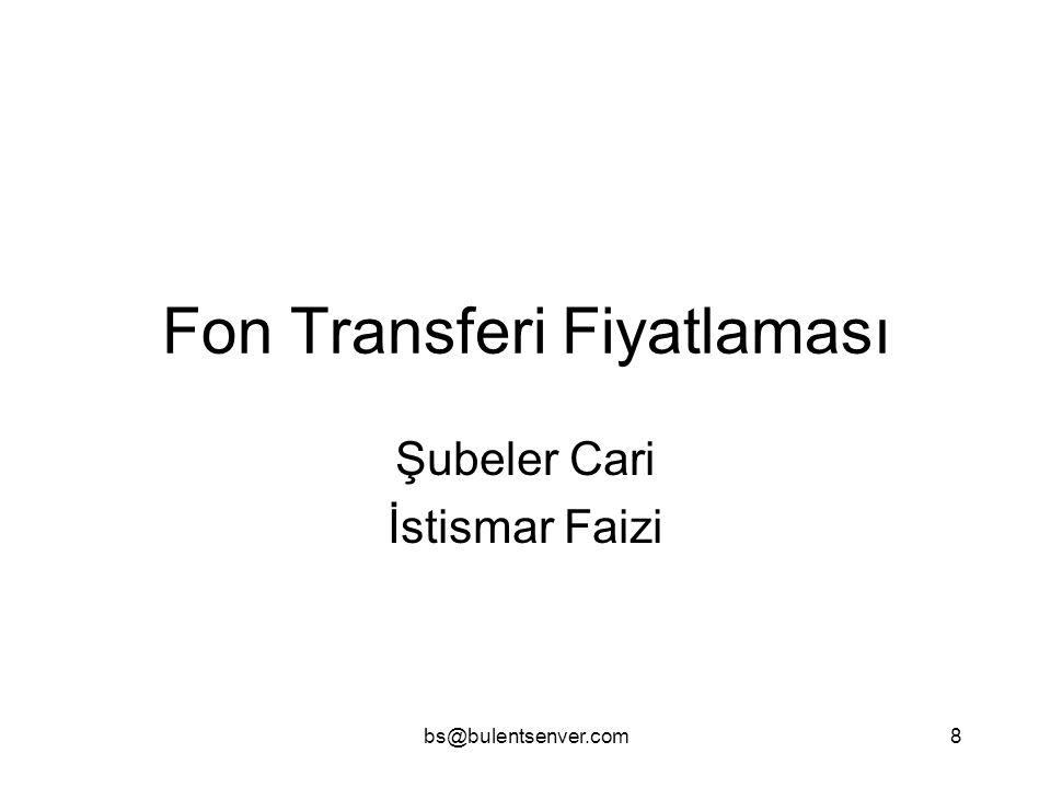 Fon Transferi Fiyatlaması