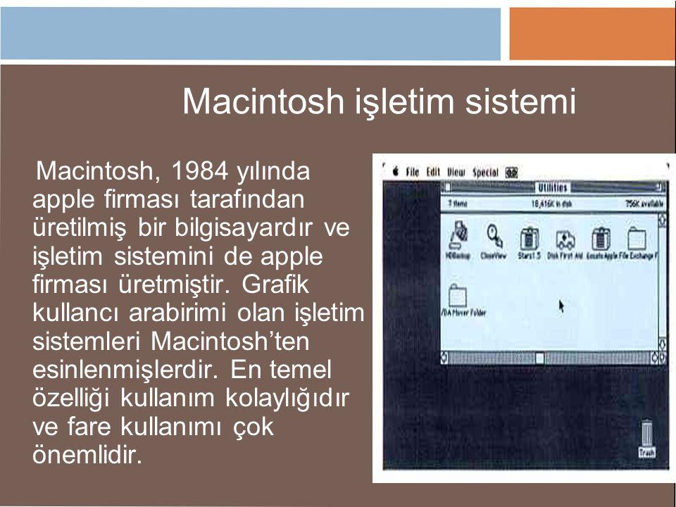 Macintosh işletim sistemi