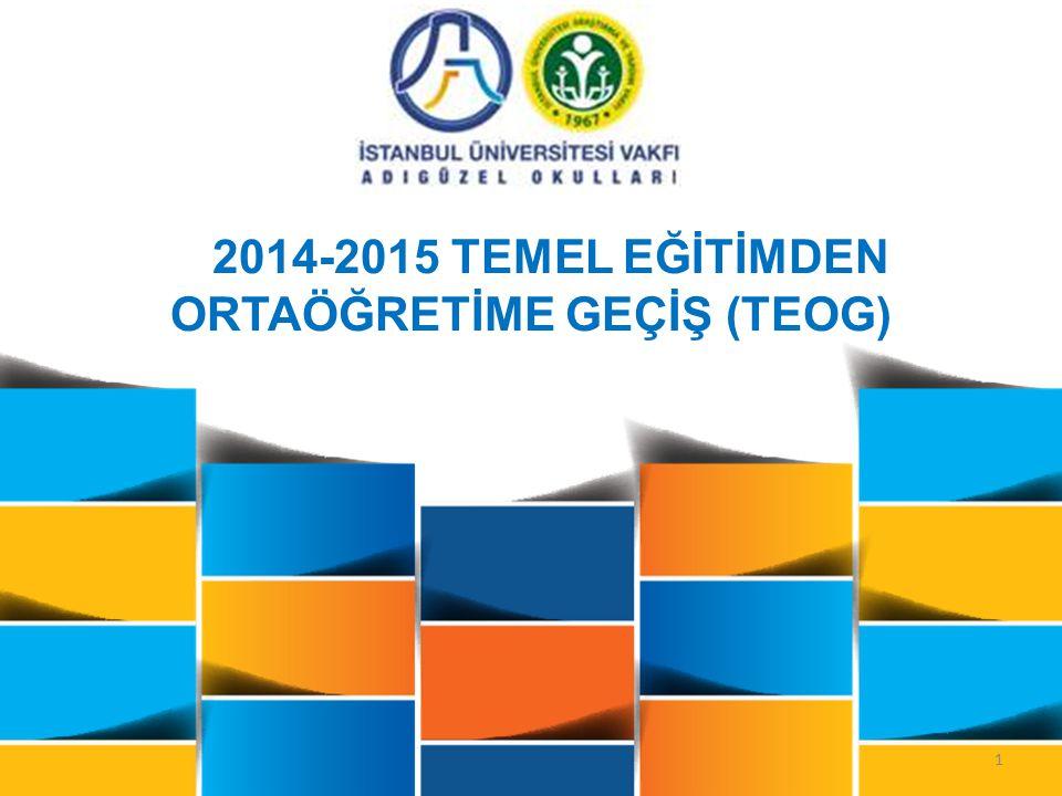 2014-2015 TEMEL EĞİTİMDEN ORTAÖĞRETİME GEÇİŞ (TEOG)