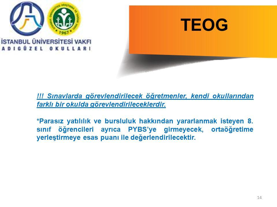 TEOG !!! Sınavlarda görevlendirilecek öğretmenler, kendi okullarından farklı bir okulda görevlendirileceklerdir.