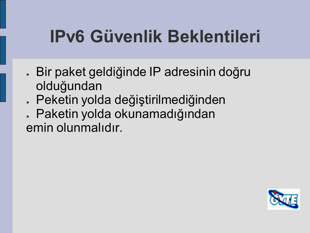 IPv6 Güvenlik Beklentileri