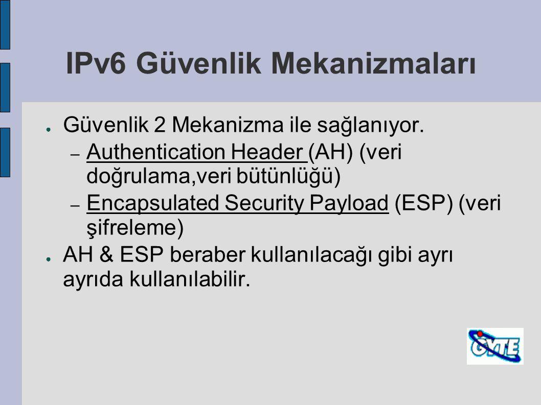 IPv6 Güvenlik Mekanizmaları