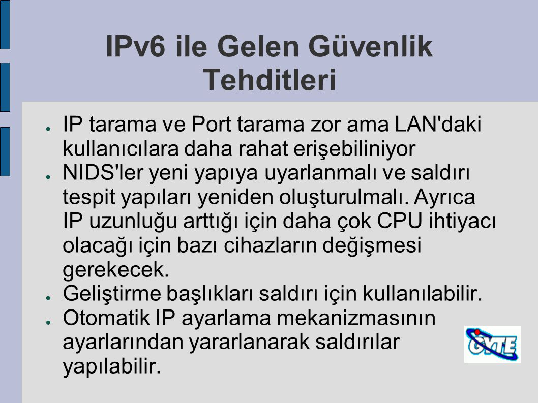 IPv6 ile Gelen Güvenlik Tehditleri