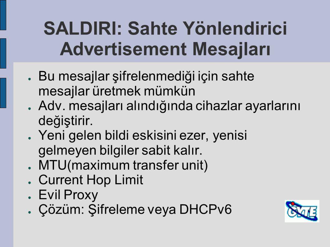 SALDIRI: Sahte Yönlendirici Advertisement Mesajları