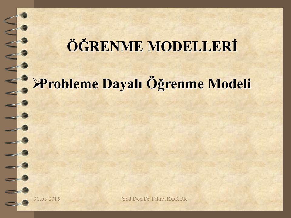 Probleme Dayalı Öğrenme Modeli