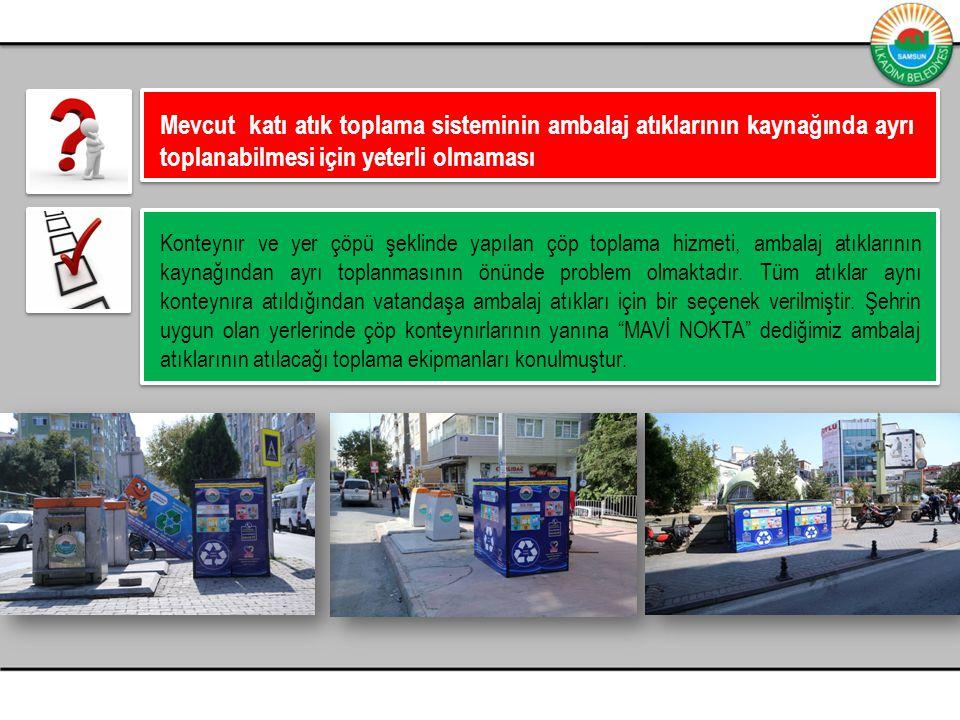Mevcut katı atık toplama sisteminin ambalaj atıklarının kaynağında ayrı toplanabilmesi için yeterli olmaması
