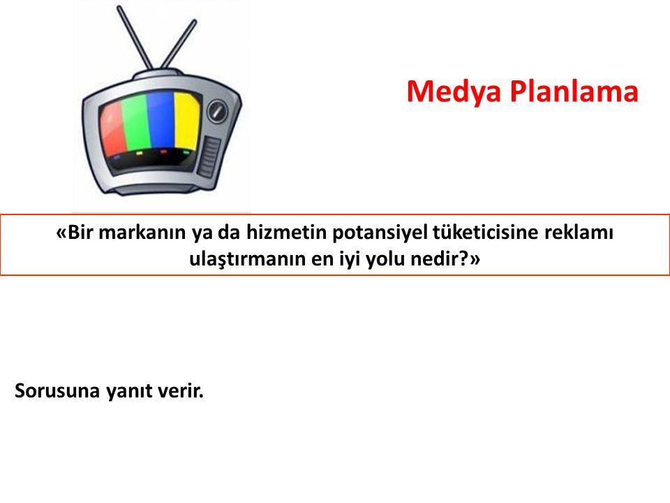 Medya Planlama «Bir markanın ya da hizmetin potansiyel tüketicisine reklamı ulaştırmanın en iyi yolu nedir »