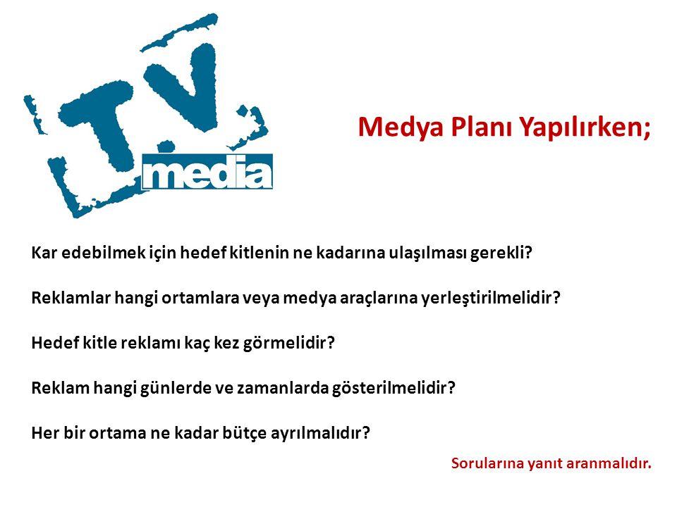 Medya Planı Yapılırken;
