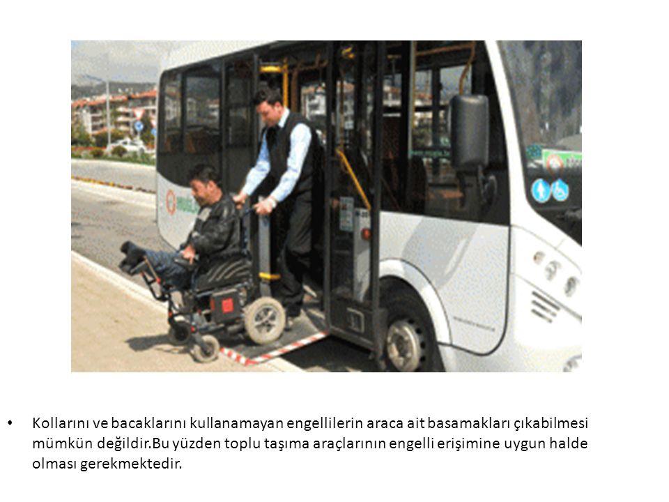 Kollarını ve bacaklarını kullanamayan engellilerin araca ait basamakları çıkabilmesi mümkün değildir.Bu yüzden toplu taşıma araçlarının engelli erişimine uygun halde olması gerekmektedir.