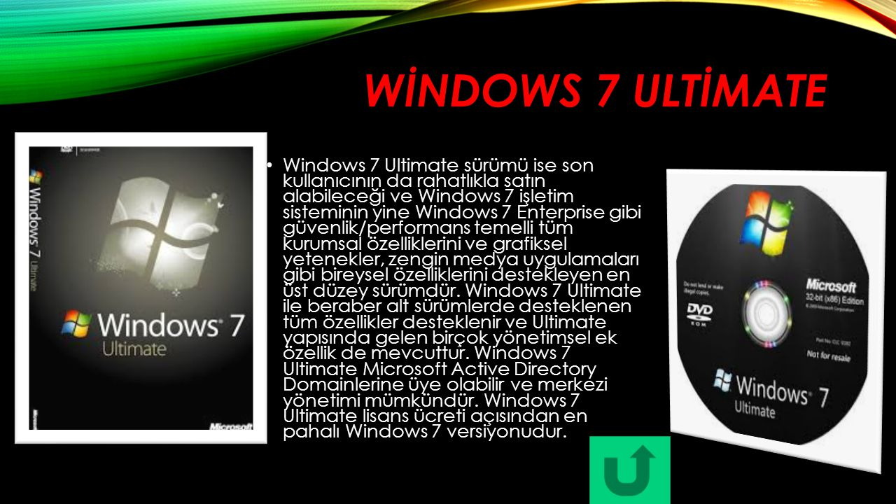 WİNDOWS 7 ULTİMATE