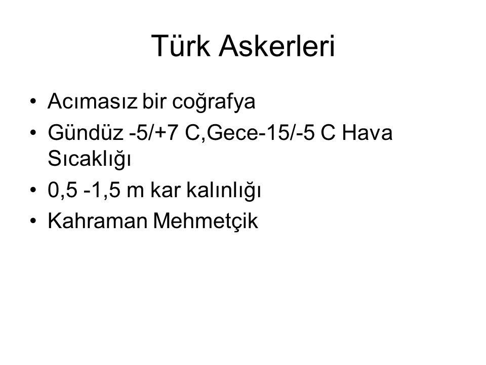 Türk Askerleri Acımasız bir coğrafya