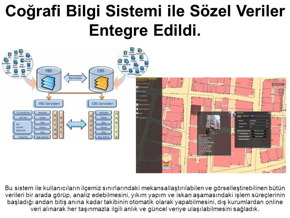 Coğrafi Bilgi Sistemi ile Sözel Veriler Entegre Edildi.