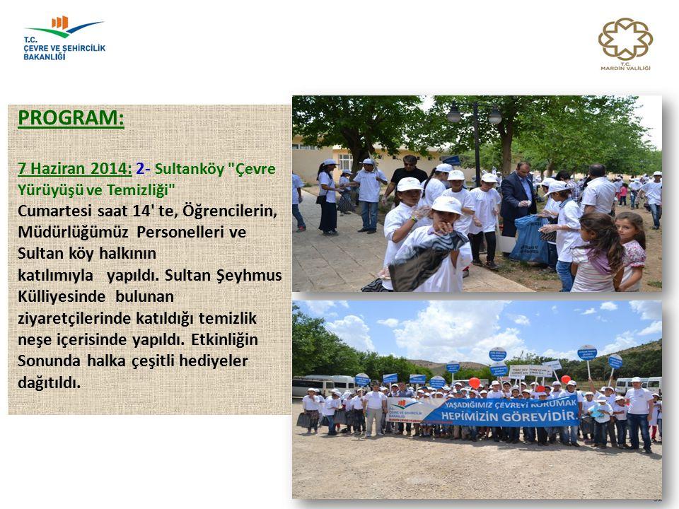 PROGRAM: 7 Haziran 2014: 2- Sultanköy Çevre