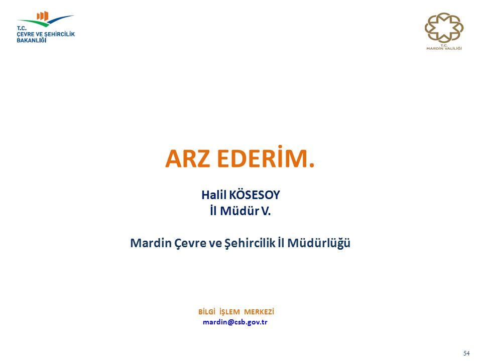 Mardin Çevre ve Şehircilik İl Müdürlüğü