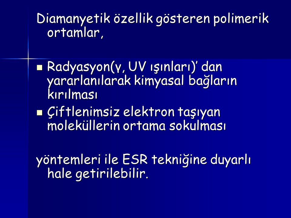 Diamanyetik özellik gösteren polimerik ortamlar,