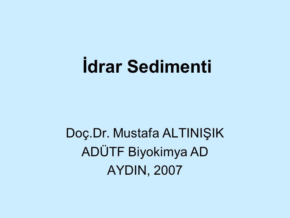 Doç.Dr. Mustafa ALTINIŞIK ADÜTF Biyokimya AD AYDIN, 2007