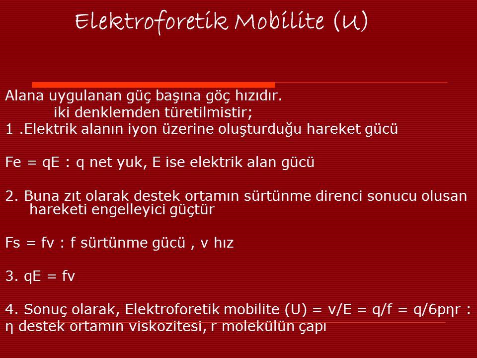Elektroforetik Mobilite (U)
