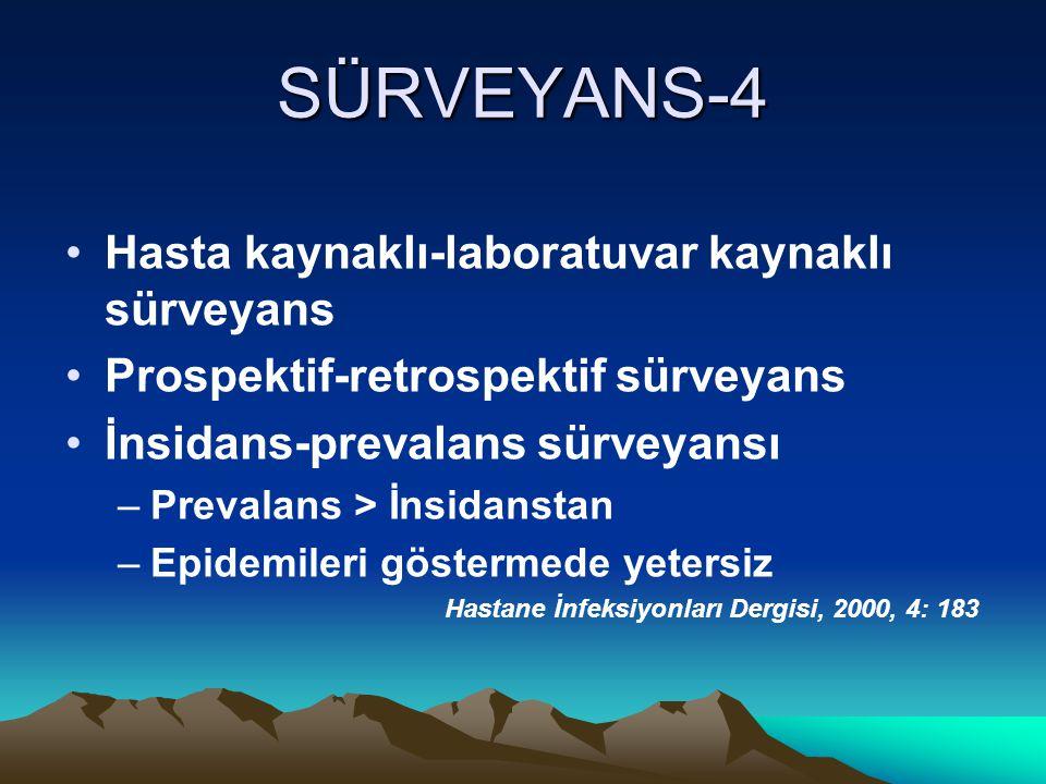 SÜRVEYANS-4 Hasta kaynaklı-laboratuvar kaynaklı sürveyans