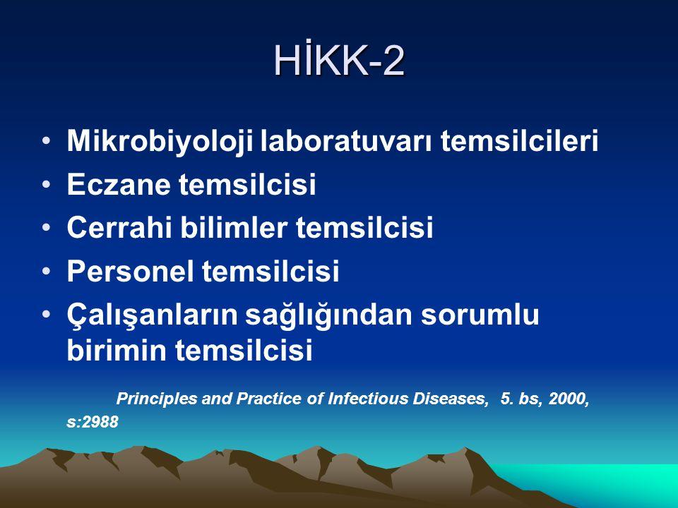 HİKK-2 Mikrobiyoloji laboratuvarı temsilcileri Eczane temsilcisi