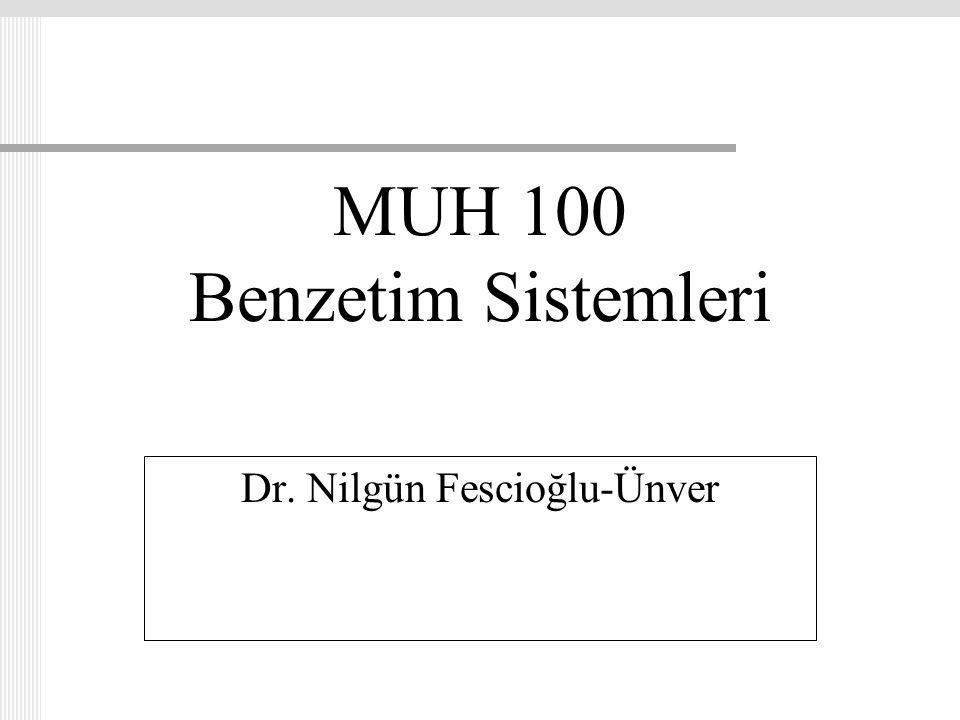 MUH 100 Benzetim Sistemleri
