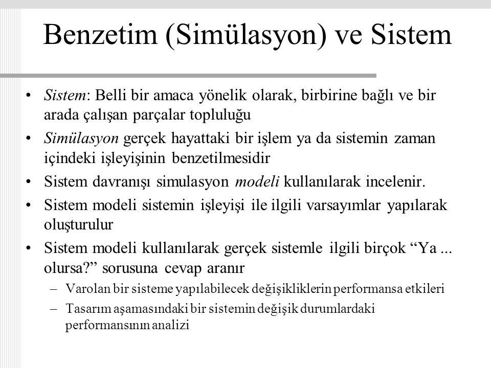 Benzetim (Simülasyon) ve Sistem