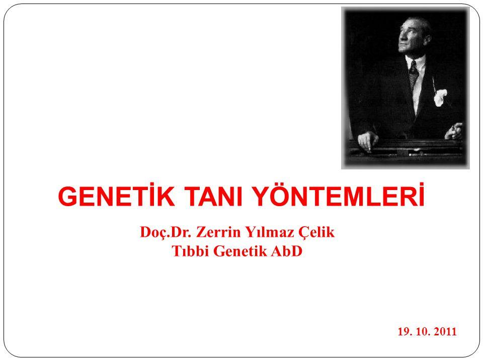 GENETİK TANI YÖNTEMLERİ Doç.Dr. Zerrin Yılmaz Çelik