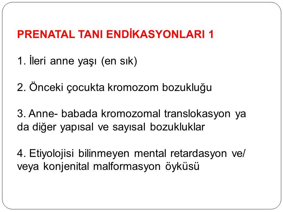 PRENATAL TANI ENDİKASYONLARI 1